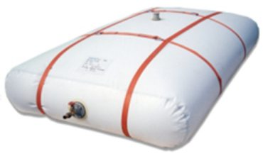 The foldable tanks with pillow-like shape indicated when liquid transport by means of conventional tanks is not convenient.