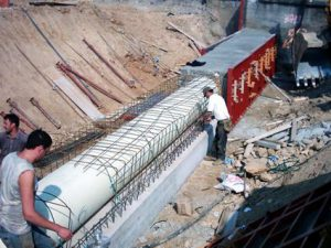 Pneumatic and inflatable formwork classic system is used for construction of void cavities directly